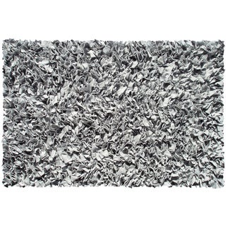 Silver Cotton Jersey Shag Rug (4'7 x 7'7)