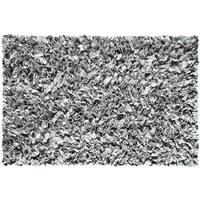 Silver Cotton Jersey Shag Rug - 4'7 X 7'7