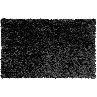 Black Cotton Jersey Shag Rug (4'7 x 7'7)