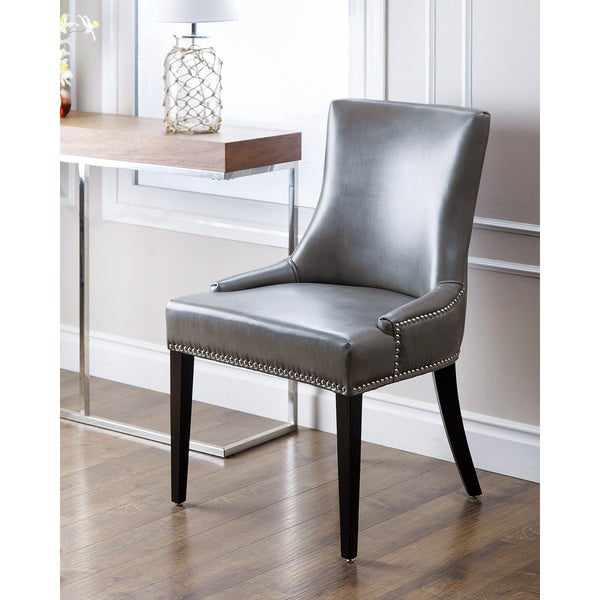 Abbyson Newport Grey Leather Nailhead Trim Dining Chair  : Abbyson Living Newport Grey Leather Nailhead Trim Dining Chair 69b21d66 3fab 4b3c 8633 e74666a5ca5a600 from www.overstock.com size 600 x 600 jpeg 53kB
