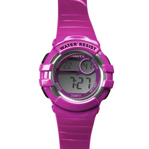 Dakota Hot Pink Digital Diver Watch