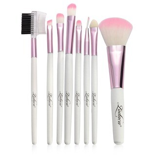 Zodaca 8-piece Cosmetic Makeup Beauty Professional Basic Natural Brush Tool Set with Pouch Bag