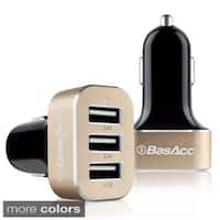 BasAcc 6.6A/ 33W Universal 3-port USB Car Charger Adapter for Apple iPhone XS Max/ XS/ XR/ Samsung Galaxy Note 9/ Note 8