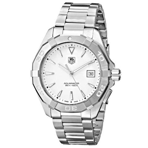 Tag Heuer Men's WAY1111.BA0910 'Aquaracer 300M' Stainless Steel