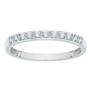 14k White Gold 1/4ct TDW Diamond Wedding Band (G-H, I2-I3)