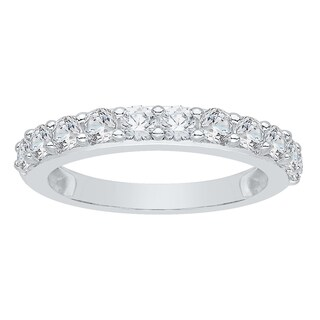 14k White Gold 1ct TDW Diamond Wedding Band (G-H, I2-I3)