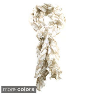 Le Nom Women's Crinkled Polka Dot Scarf|https://ak1.ostkcdn.com/images/products/9964252/P17116614.jpg?impolicy=medium