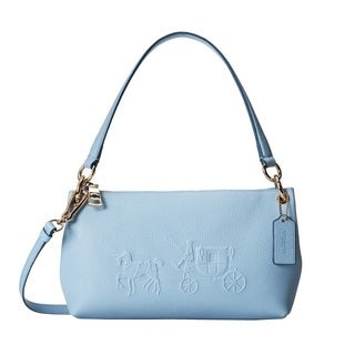 Coach Embossed Horse and Carriage Leather Charley Crossbody