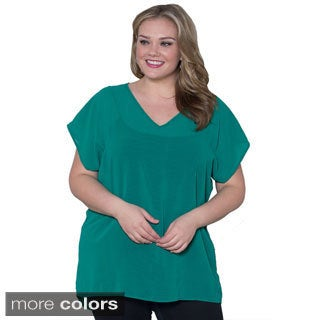 Sealed with a Kiss Women's Plus Size 'Lillian' Chiffon Top