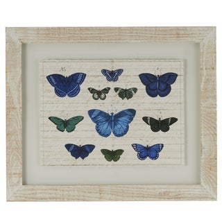 Butterflies Framed Giclee Print Wall Art with Glass