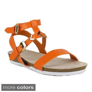 Fahrenheit Women's Betty-02 T-strap Open Toe Sandals