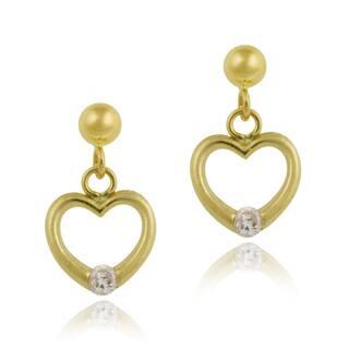 Mondevio 10k Yellow Gold Cubic Zirconia Heart Dangle Earrings|https://ak1.ostkcdn.com/images/products/9964628/P17116904.jpg?impolicy=medium