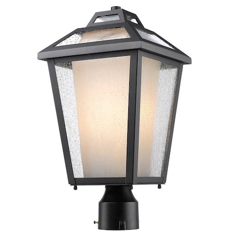 Avery Home Lighting Memphis Black 1-Light Outdoor Post Mount Light