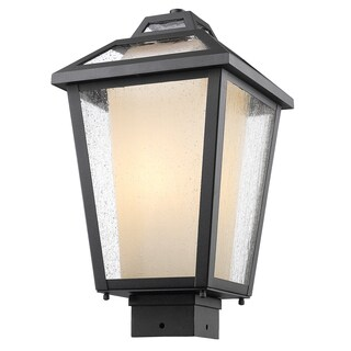 Z-Lite Memphis 1-Light Black Outdoor Post Mount Light