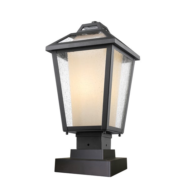 outdoor pier mount lights low voltage avery home lighting memphis 1light black outdoor pier mount light shop