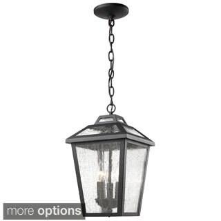 Z-Lite Bayland 3-Light Black Outdoor Chain Light