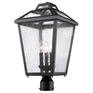 Z-Lite Bayland Black 3-Light Outdoor Post Mount Light