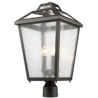 Z-Lite Bayland Black 3-Light Outdoor Post Light