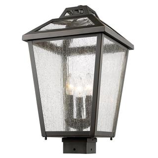 Z-Lite Black Bayland 3-Light Outdoor Post Mount Light