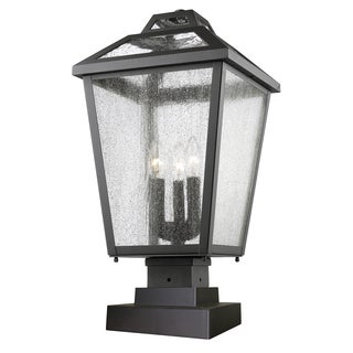 Z-Lite Black Bayland 3-Light Outdoor Pier Mount Light