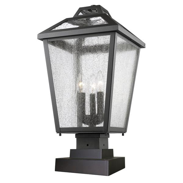 Avery Home Lighting Black Bayland 3 Light Outdoor Pier Mount Light Overstock 9964680