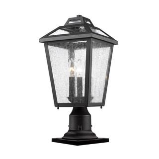 Z-Lite Bayland Black 3-Light Outdoor Pier Mount Light