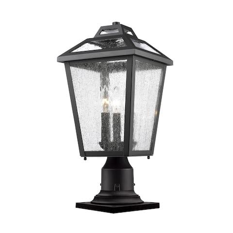 Avery Home Lighting Bayland Black 3-Light Outdoor Pier Mount Light
