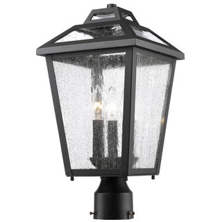 Z-Lite 3-Light Bayland Black Outdoor Post Mount Light