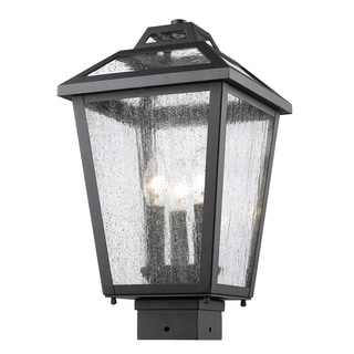 Z-Lite Bayland 3-Light Black Outdoor Post Mount Light
