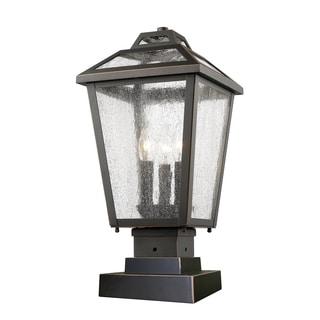 Z-Lite Bayland 3-Light Black Outdoor Pier Mount Light