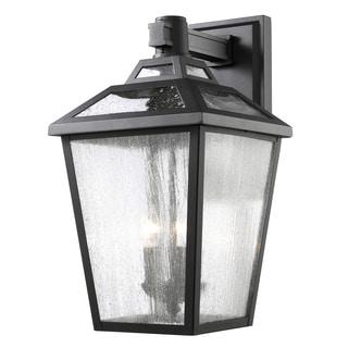 Z-Lite Bayland 3-Light Outdoor Black Wall Light