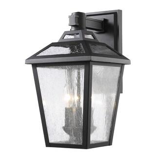 Z-Lite Bayland 3-Light Black Outdoor Wall Light