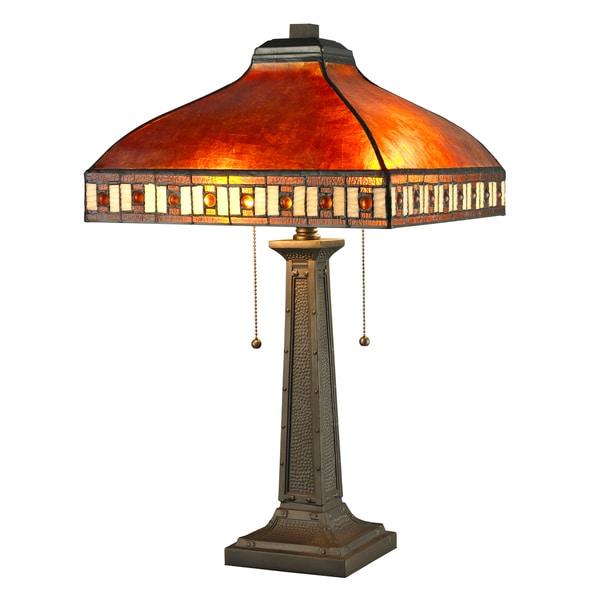 Avery Home Lighting Crimson 2-Light Java Bronze Table Lamp Light