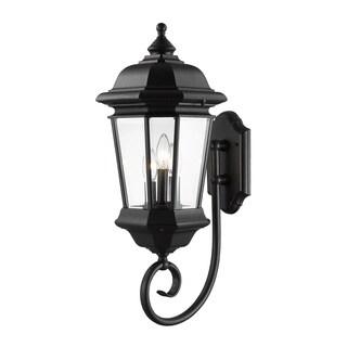 Z-Lite Bayland 3-Light Outdoor Bronze Wall Light