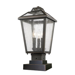 Z-Lite Bayland Oil-rubbed Bronze 3-Light Outdoor Pier Mount Light