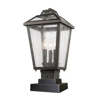 Z-Lite Bayland Oil-rubbed Bronze 3-Light Outdoor Pier Mount Light