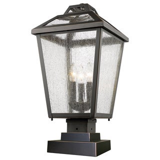 Z-Lite Bayland 3-Light Aluminum Outdoor Pier Mount Light