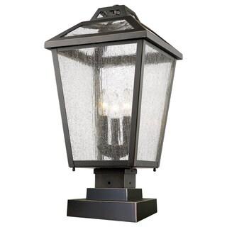 Z-Lite Bayland 3-Light Aluminum Outdoor Pier Mount Light