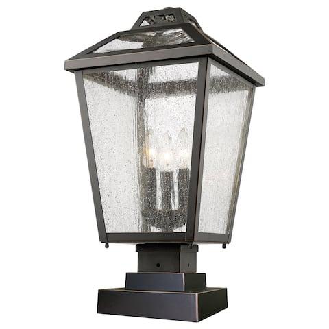 Avery Home Lighting Bayland 3-Light Aluminum Outdoor Pier Mount Light