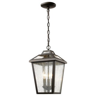 Z-Lite Bayland Oil-rubbed Bronze 3-Light Outdoor Chain Light
