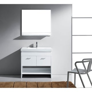 Virtu USA Glora 36-inch Single Bathroom Vanity Cabinet Set in White