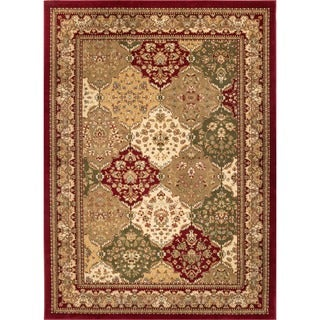 Well-woven Vanguard Panel Classic Oriental Persian Traditional Red, Green, Beige, Blue, Brown Plush Area Rug (3'11 x 5'3)