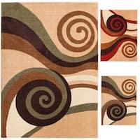 "Well Woven Bright Trendy Twist Spirals Area Rug - 7'10"" x 10'6"""