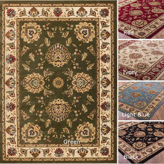 Well-woven Vanguard Oriental Border Formal Traditional Area Rug (3'11 x 5'3)