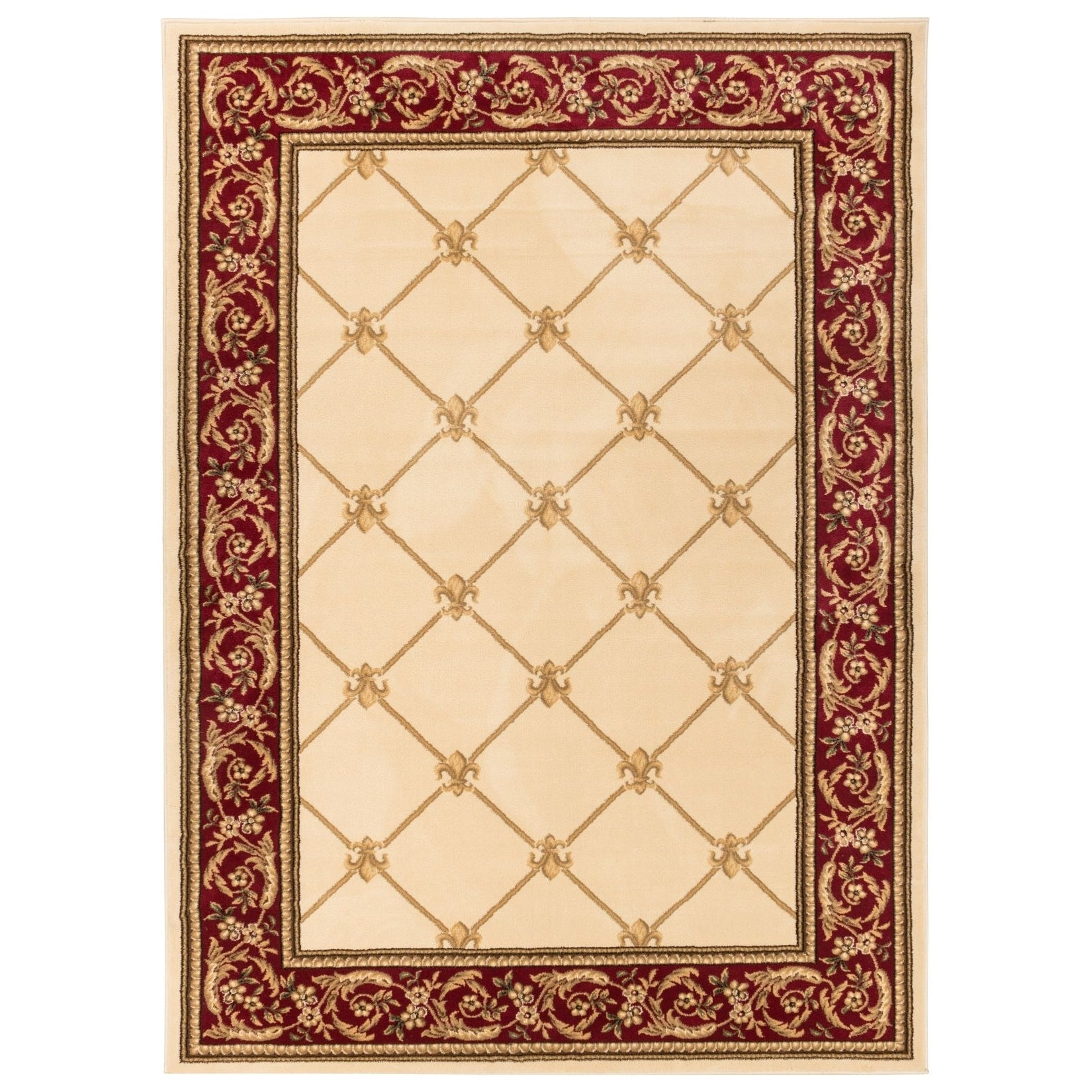 well woven vanguard fleur de lis trellis lattice french european