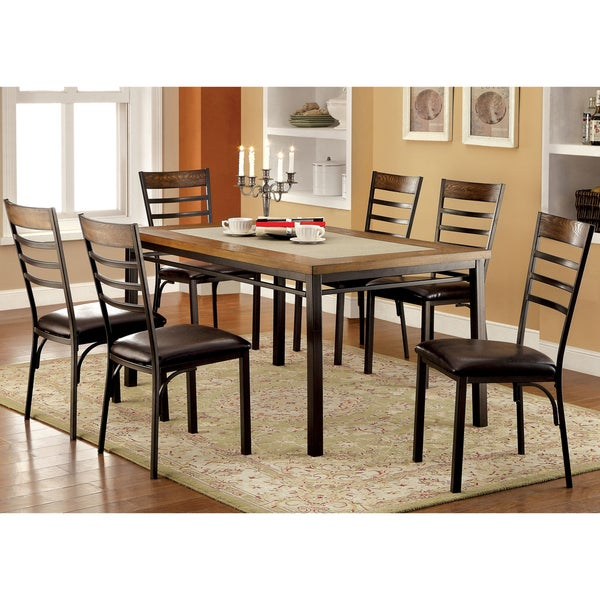 furniture of america mennits industrial style dining table free