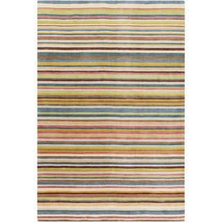 Hand-Loomed Tonya Stripe New Zealand Wool Area Rug - 8' x 11'