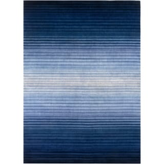 Hand-Loomed Brenden Stripe New Zealand Wool Rug (8' x 11')