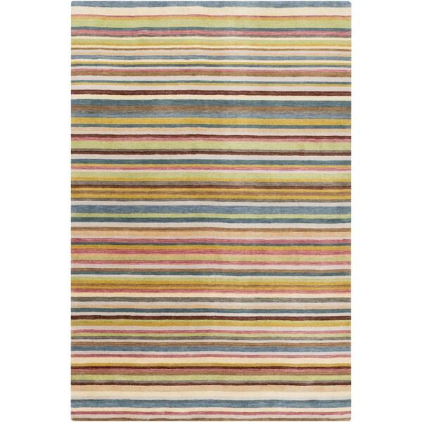 Hand-Loomed Tonya Stripe New Zealand Wool Area Rug (5' x 8')
