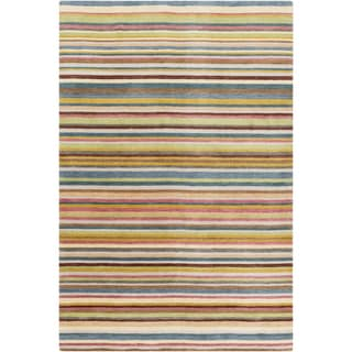 Hand-Loomed Tonya Stripe New Zealand Wool Rug (5' x 8')